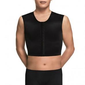 Chaleco corto VOE post liposucción para hombre sin mangas y apertura frontal (5007S - 5007S-2)