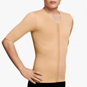 Chaleco VOE post liposucción para hombre de mangas cortas y apertura frontal (5017 - 5017-2)
