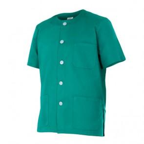 Chaqueta pijama sanitario manga corta de botones - Verde