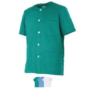 Chaqueta sanitario de colores manga corta con botones