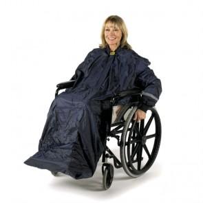 Chubasquero con mangas para silla de ruedas