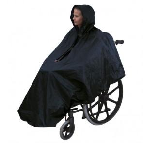 Chubasquero impermeable sin mangas para silla de ruedas
