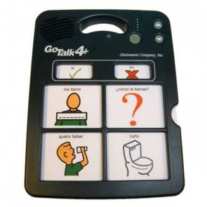 Comunicador pictográfico Go Talk 4 con pictogramas