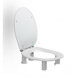 Elevador de wc Dania 10cm. con tapa y sin apertura delantera
