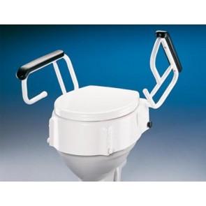 Elevador de WC regulable con reposabrazos