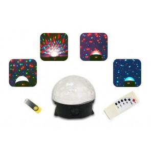 Bola de luz y música interactiva