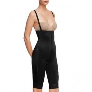 Faja post liposucción por encima de rodillas y abdomen con cremallera