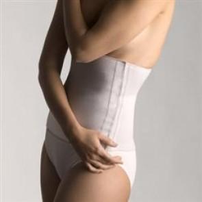 Faja Farmalastic de algodón elástica cierre velcro beige