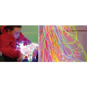Fibra optica plastica ultravioleta para estimulacion sensorial