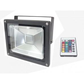Foco led colores con mando inalámbrico 10W