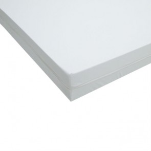 Funda colchón impermeable ignífuga de poliuretano anti-ácaros para cama de 105x190cm.