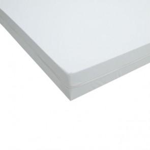 Funda colchón impermeable ignífuga de poliuretano anti-ácaros para cama de 80x190cm.