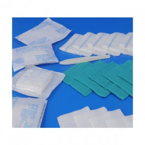 Gasa estéril calidad 17 hilos 20x40 (sobre de 5 uds.) Caja de 300 sobres.