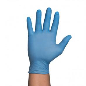 Guantes de nitrilo azules