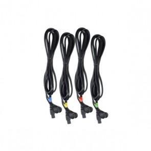 Juego de 4 cables COMPEX 6 pins-snap