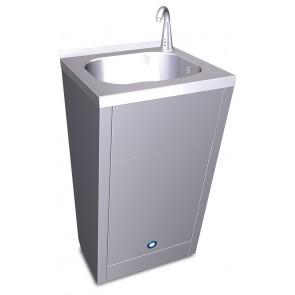 Lavamanos registrable fijo electrónico para agua fría y caliente en acero inoxidable