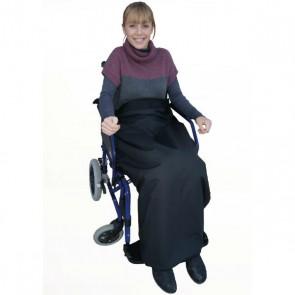 Manta impermeable y termorreguladora para silla de ruedas Saniluxe 105x120