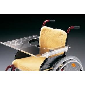 Mesita transparente universal para silla de ruedas
