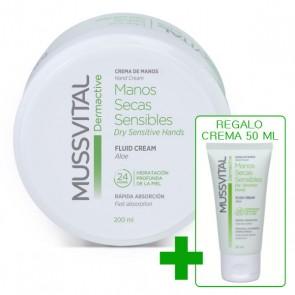 Crema de manos Mussvital pieles secas y sensibles + regalo crema 50ml