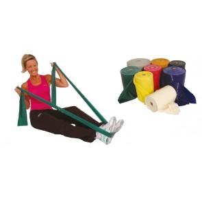 Banda elástica de ejercicio nivel medio (rojo)