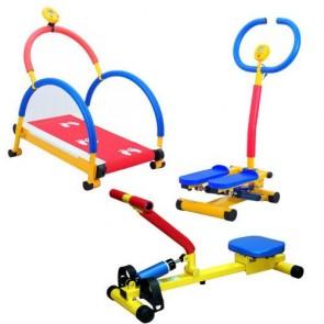 Pack cinta de correr, stepper y remo infantil