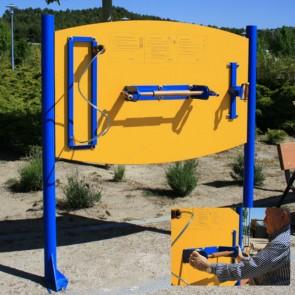 Panel de ejercicios EC/2 con flexoextensor, muelle de manos y pronosupinador