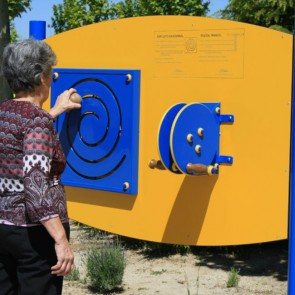 Panel de ejercicios EC/3 con ruedas de manos y circuito espiral