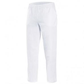 Pantalon sanitario con goma y cinta ajustable - Blanco