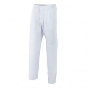 Pantalón sanitario blanco con cremallera