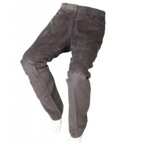 Pantalón adaptado de pana para señora gris
