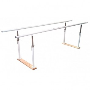 Juego de paralelas de acero con base de madera plegables y regulables
