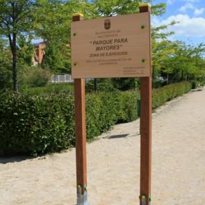 """Pórtico personalizado """"Parque para mayores"""" M.10-E"""