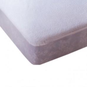 Protector colchón impermeable Bambu de rizo y poliuretano transpirable anti-ácaros para cama de 105cm.