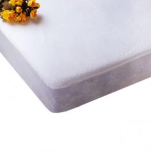 Protector de colchón impermeable de rizo y poliuretano para cama de 105cm.