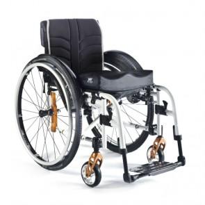 Quickie Easy 300 - Silla de aluminio plegable con cruceta de 4 brazos