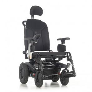 Quickie Q400R Sedeo Lite - Silla de ruedas eléctrica de tracción trasera - Color negro