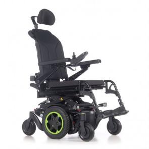 Quickie Q400M Sedeo Lite - Silla de ruedas eléctrica de tracción central - Color verde
