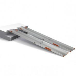 Rampas telescópicas de aluminio de 1,5m. dos raíles RT1500
