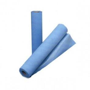 Rollo papel camilla plastificado azul