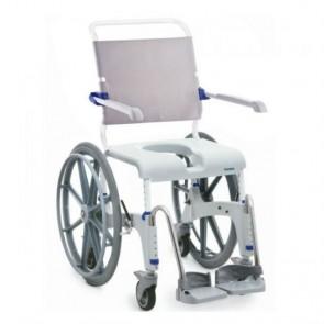 Silla de ducha Aquatec Ocean con ruedas autopropulsables extraíbles