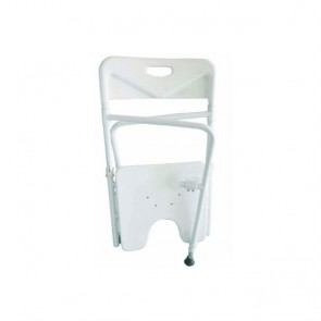 Silla de ducha de aluminio plegable y regulable