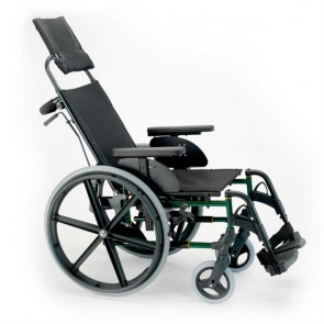 Silla de ruedas de acero reclinable Breezy Premium - Ruedas autopropulsables