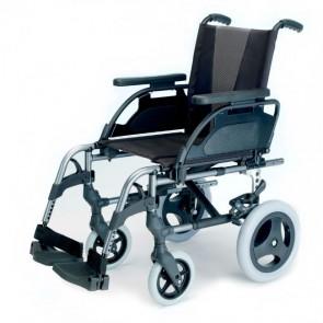 Silla de ruedas de aluminio no autopropulsable Breezy Style - Gris selenio