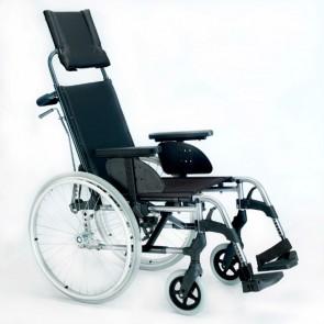 Silla de ruedas de aluminio Breezy Style con respaldo reclinable - Autopropulsable