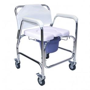 Silla de ruedas para ducha, asiento confort en U
