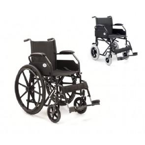Silla de ruedas de acero plegable PC20-PC21