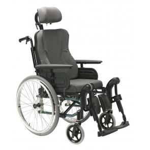Invacare Action 3 NG Comfort - Silla de ruedas de aluminio plegable y reclinable
