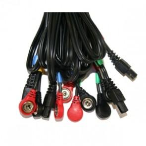 1 Juego de 4 cables COMPEX 6 pins-snap