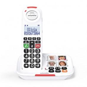 Swissvoice Xtra 2155 - Teléfono fijo inalámbrico para mayores