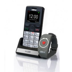 Teléfono móvil de teclas grandes y pulsera SOS